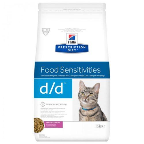 Croquettes D/D CANARD PETITS POIS Chat Sac 1.5 kg - Prescription Diet