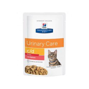 Pâtée C/D URINARY STRESS SAUMON Chat 12x85g - Prescription Diet