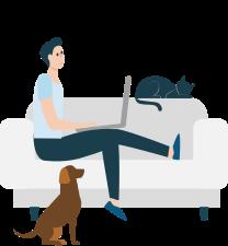 Client sur le sofa